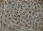 Split Ring Rings 7mm 22g - Silver Metallic