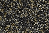8/0 Miyuki Japanese Seed Beads with Czech Coating - Black Valentinite Matte