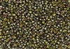 8/0 Miyuki Japanese Seed Beads with Czech Coating - Crystal Magic Green