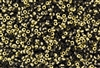8/0 Miyuki Japanese Seed Beads with Czech Coating - Black Amber/Gold Matte