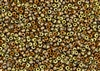 8/0 Miyuki Japanese Seed Beads with Czech Coating - Black California Gold Rush Matte