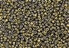 8/0 Miyuki Japanese Seed Beads with Czech Coating - Black California Graphite