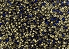8/0 Miyuki Japanese Seed Beads with Czech Coating - Black California Blue