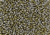 8/0 Miyuki Japanese Seed Beads with Czech Coating - Black California Silver