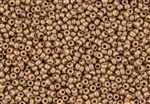 8/0 Miyuki Japanese Seed Beads with Czech Coating - Opaque Rose Gold Topaz Luster