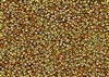 11/0 Miyuki Japanese Seed Beads with Czech Coating - Black California Gold Rush Matte