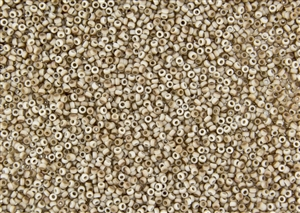 11/0 Miyuki Japanese Seed Beads with Czech Coating - White Opaque Celsian Matte