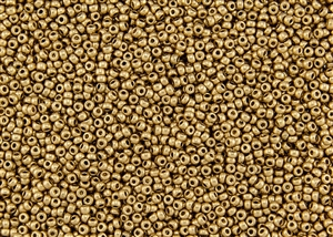 11/0 Miyuki Japanese Seed Beads with Czech Coating - Aztec Gold Metallic Matte