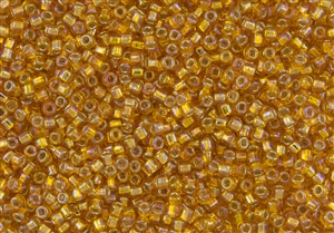 8/0 Matsuno Japanese Seed Beads - Hyacinth Orange Rainbow Silver Lined #637