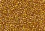 11/0 Matsuno Japanese Seed Beads - Hyacinth Orange Rainbow Silver Lined #637