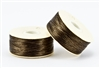 Nylon Nymo Beading Thread 64 Yard Bobbin Size D - BROWN