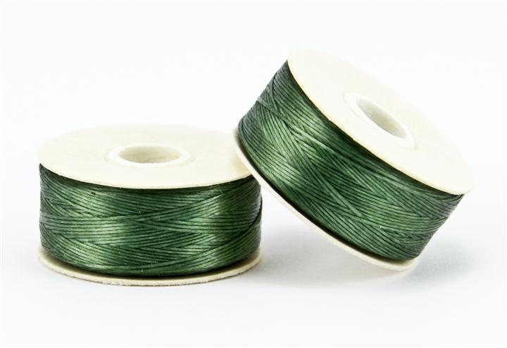 Nylon Beading Thread Waxed Thread Size D Nymo Thread Green Nymo Thread 2 bobbins Nymo Beading Thread Size D Olive Green 43927