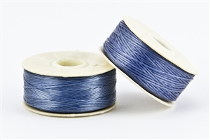 Nylon Nymo Beading Thread 64 Yard Bobbin Size D - MEDIUM BLUE