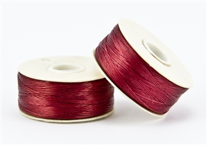 Nylon Nymo Beading Thread 64 Yard Bobbin Size D - RED