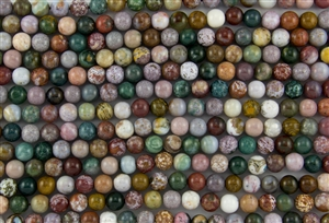 8mm Natural Ocean Jasper Gemstone Round Beads