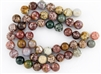 12mm Natural Ocean Jasper Gemstone Round Beads
