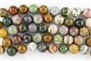 20mm Natural Ocean Jasper Gemstone Round Beads