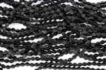 5x3mm Czech Glass Pinch Spacer Beads - Jet Black Matte
