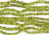 5-6mm Natural Peridot Gemstone Smooth Puffy Rondelle Beads