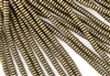6mm Czech Glass Spacer Beads Rondelles - Dark Antique Gold Metallic Suede