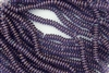 6mm Czech Glass Spacer Beads Rondelles - Dark Amethyst Luster