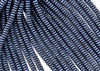 6mm Czech Glass Spacer Beads Rondelles - Dark Blue Metallic Suede