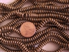 6mm Czech Glass Spacer Beads Rondelles - Shiny Bronze Metallic
