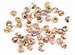 Czech Glass Pressed 8/7mm Rose Petals - Apollo Gold