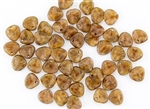 Czech Glass Pressed 8/7mm Rose Petals - Rosaline Copper Picasso Matte