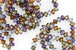 9x6mm Rivoli Saucer Czech Glass Beads - Lumi Mix