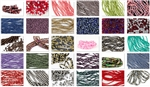 "100 Strands/Bags ""Grab Bag Lot"" of Pressed Czech Glass Beads"