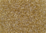 SuperDuo 2/5mm Two Hole Czech Glass Seed Beads - Crystal Champagne Luster SD724