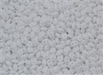SuperDuo 2/5mm Two Hole Czech Glass Seed Beads - Opaque White SD727