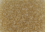 SuperDuo 2/5mm Two Hole Czech Glass Seed Beads - Transparent Champagne SD776