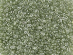 SuperDuo 2/5mm Two Hole Czech Glass Seed Beads - Olive Transparent Luster SD780