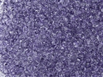 SuperDuo 2/5mm Two Hole Czech Glass Seed Beads - Tanzanite Transparent SD792