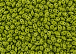 SuperDuo 2/5mm Two Hole Czech Glass Seed Beads - Opaque Olive SD800