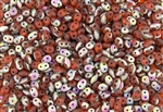 SuperDuo 2/5mm Two Hole Czech Glass Seed Beads - Hyacinth Matte Vitral SD870