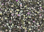 SuperDuo 2/5mm Two Hole Czech Glass Seed Beads - Black Diamond Matte Vitral SD871