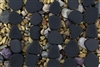 Strand of New 2013 Sea Glass Flat Freeform Beads - Jet Black