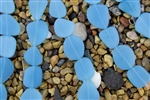Strand of New 2013 Sea Glass Flat Freeform Beads - Opaque Blue Opal