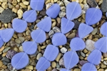 Strand of New 2013 Sea Glass Flat Freeform Beads - Opaque Sky Blue