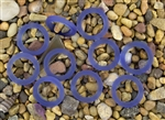 5 x Beach Sea Glass 27mm Bottle-Neck Style Rings - Sapphire