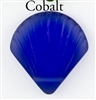 1 Sea Glass 27x29mm Shell Pendant - Cobalt Blue
