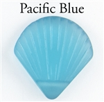 1 Sea Glass 27x29mm Shell Pendant - Pacific Blue