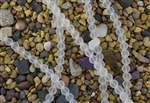Strand of Sea Glass 10mm Round Beads - Crystal Clear
