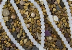 Strand of Sea Glass 10mm Round Beads - Moonstone Opal