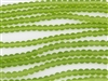 Strand of Sea Glass 4mm Round Beads - Bright Green