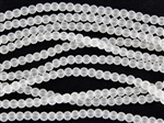 Strand of Sea Glass 4mm Round Beads - Crystal Clear