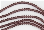 Strand of Sea Glass 4mm Round Beads - Medium Amethyst
